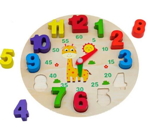 Extrokids Wooden Digital Clock Board toys - EK1621