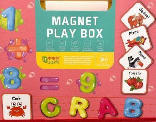 Extrokids Magnetic Play Box Alphabets and numbers - EK1623