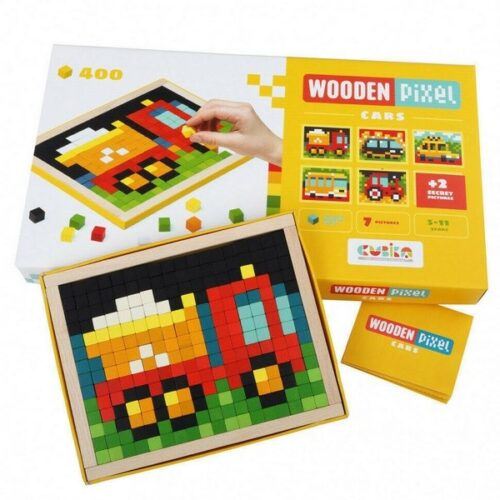 Extrokids Wooden Mosaics PIXEL 400PC  Vechicle  Pixel Toys for Kids, Educational Pix Art for Kids from 5 Years Old, Mosaic Art Kits for Kids , Pixel Mosaic Kits for Adults  - EK1654