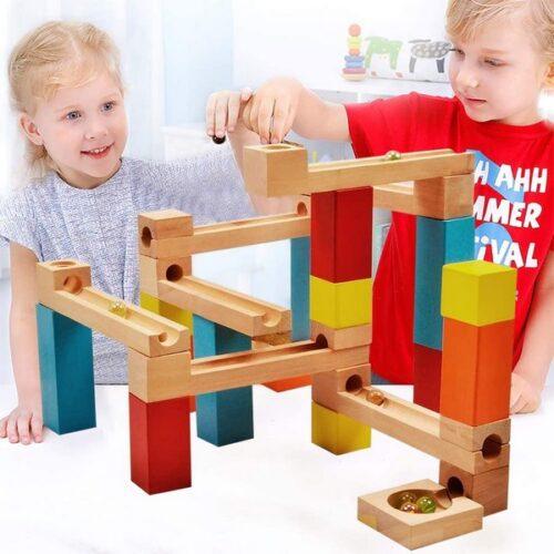 Extrokids Wooden Track Ball Consrtuctional Building Block - EK1666