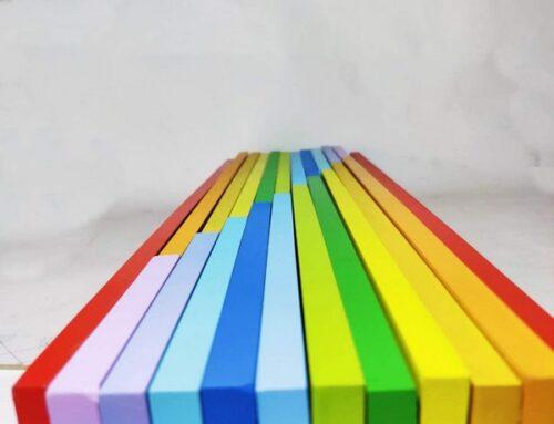 Extrokids 11 Pc Wooden Rainbow Plank  - EK1671
