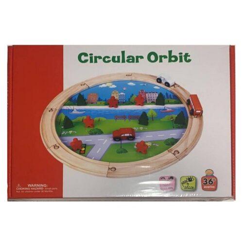 Extrokids Wooden Toddler Toys with Cars Circular Orbit - EK1695