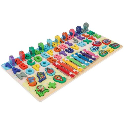 Extrokids Wooden Alphabet and Numbers Playing Piano Alphanumetric Play The Piano - EK1699