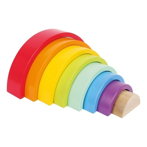 Extrokids Wooden Mini Multi Colour Rainbow Blocks Stacking - EK1705