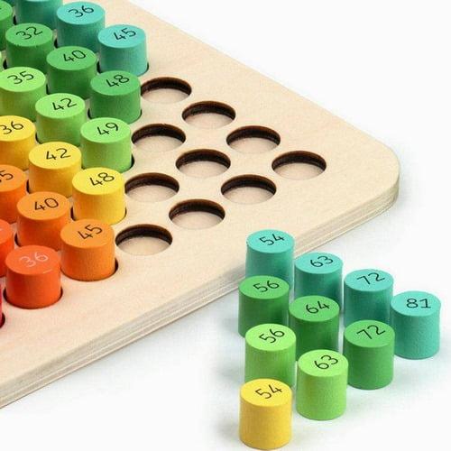 Extrokids Wooden Learning with Fun Multiplication Table Board - EK1708