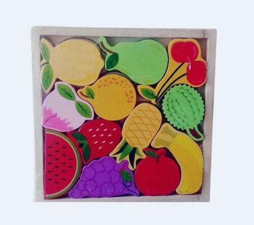 Extrokids Wooden Montessori Learning Fruit Stacking - EK1760