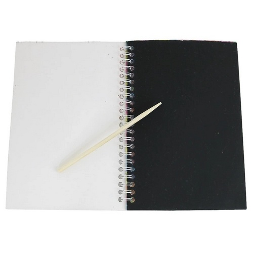 Extrokids Fun coating magic coil scratch drawing book with Wooden pen - EK1804