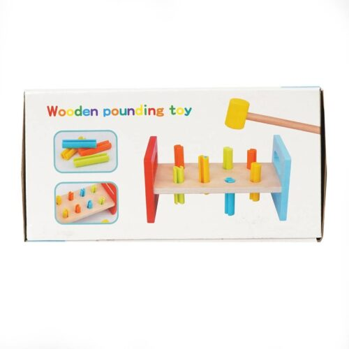 Extrokids Wooden Pounding Bench Toy with Mallet - EK1835