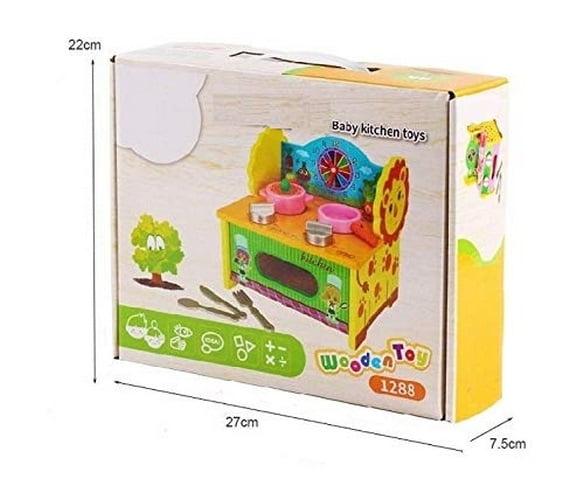 Extrokids Wooden Pretend PlaySet Kitchen Set Educational Toys for Kids - EKR0004