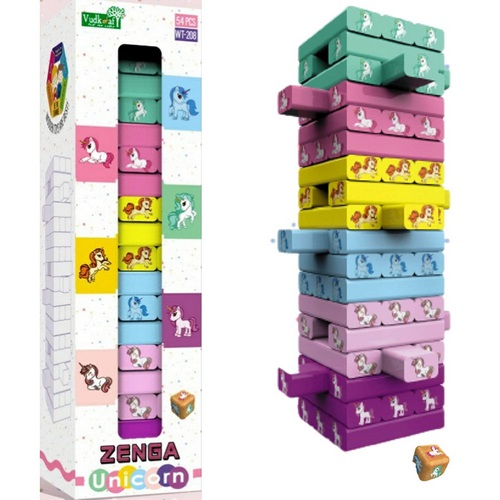 Extrokids Funplay Learning Zenga Unicorn Colourful Blocks - EKR0021