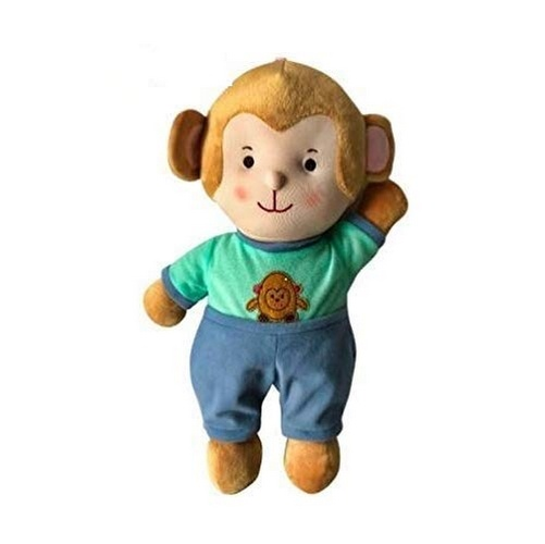 Extrokids Toddlers Soft Washable Fabric Monkey Doll Toy with Attractive Eyes and Cute Smile for Kids - EKR0032