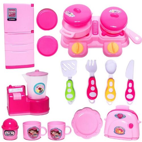 Extrokids Little Chef Cookware Pretend Play Kitchen Set Toy with Accessories For Kids (16 Pcs)