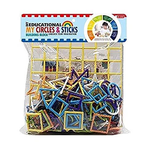 Extrokids Constructional Plastic Build StickBlock Games Smart Colorful Sticks with Different Shape Puzzle Connector - EKR0047