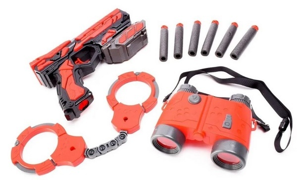 Extrokids Kids Protective Army Mission Launcher Gun Set With Handcuffs And Binoculars - EKR0058