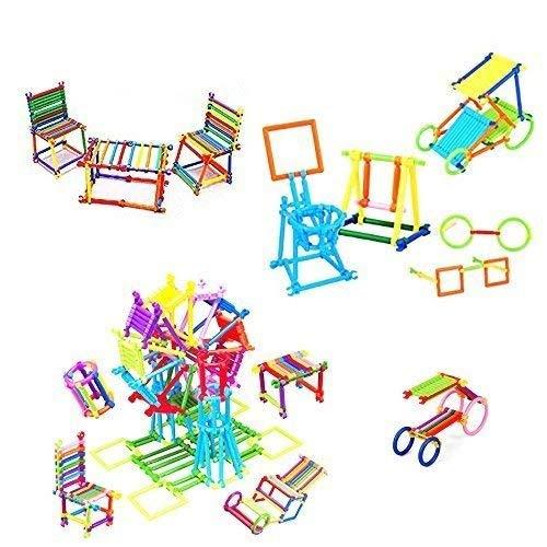 Extrokids Colourful Plastic Shape Educational Stick Assembly Blocks Game for Child - EKR0063