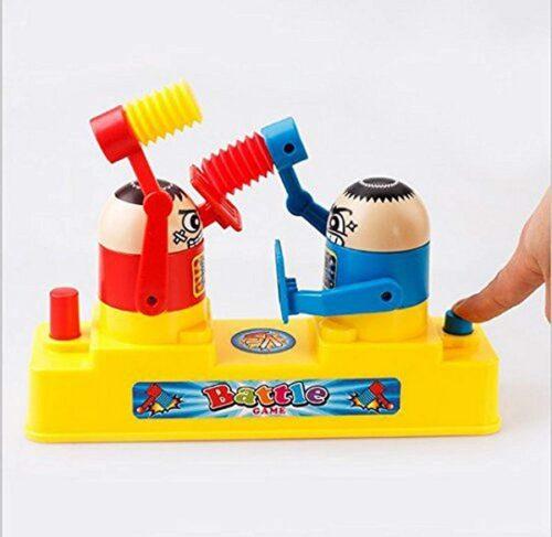 Extrokids Colorful Desktop Boxing Toy for Boys Hammering Contest Battle Robot Toy for Kid - Multicolor - EKR0080