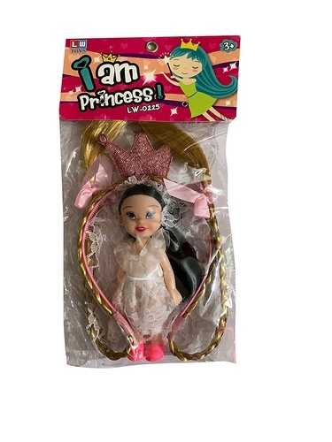 Extrokids Toddlers Multicolor I am Princess Cute Baby Dolls with Crown - EKR0122