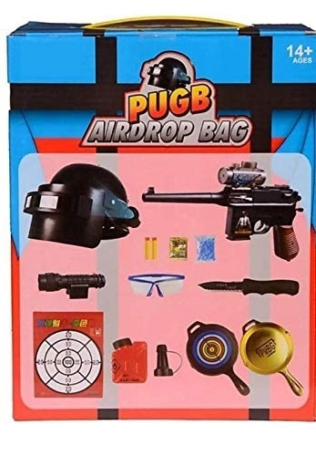 Extrokids Pretend Play Army Toy Play Set Air Drop Bag Pubg - EKR0128