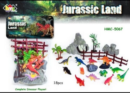 Extrokids Montessori Learning Dinosaur Play World with Trees Toys for Kids - EKR0134