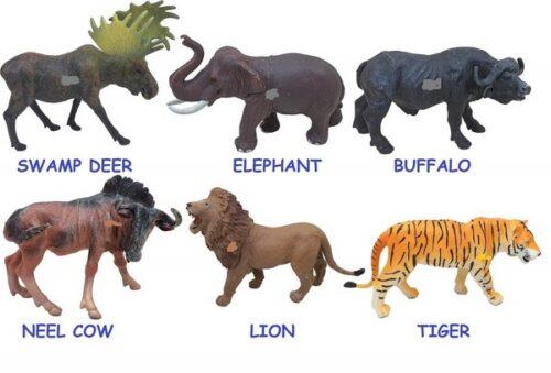Extrokids Montessori Learning Wild Animal Figures Play Set Toys for Kids - EKR0135