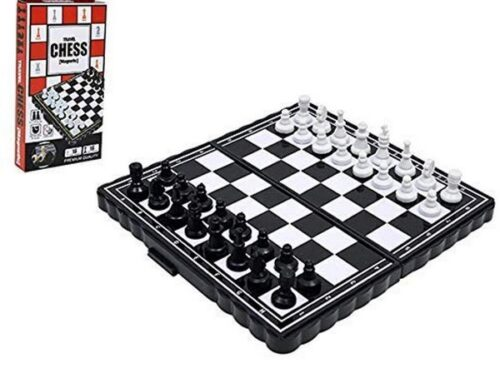 Extrokids Pocket Size Magnetic Travel Chess | Mini Fordable Board Game Folding Camping - EKR0141