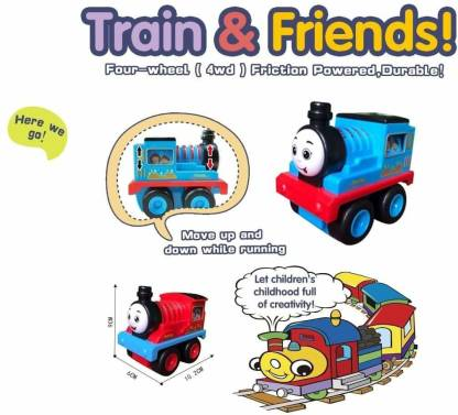 Extrokids Montessori Unbreakable Train Engine Toy for Kids Toy Vehicle for Baby Friction Power Toy for Girls Boys - EKR0164