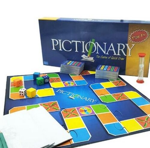 Extrokids Family Games and Fun Learning Board Game Pictionary Party Edition The Game - EKR0195