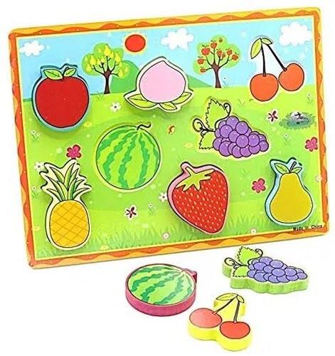 Extrokids Montessori Learning Wooden Puzzle Fruits - EKR0213