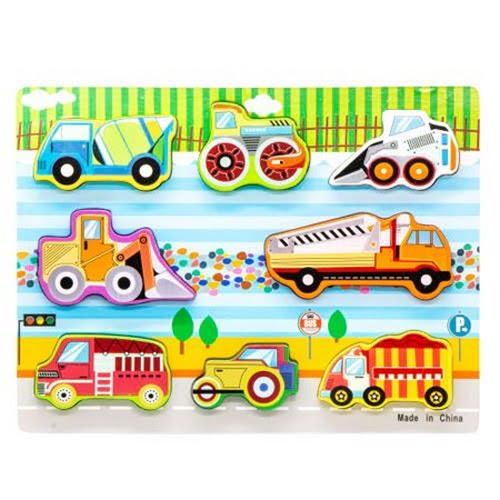 Extrokids Montessori Learning Wooden Puzzle Heavy Vehicle - EKR0220