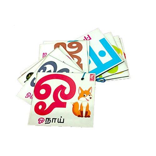 Extrokids Wooden letter Tamil Alphabet Flash Card- EKW0002