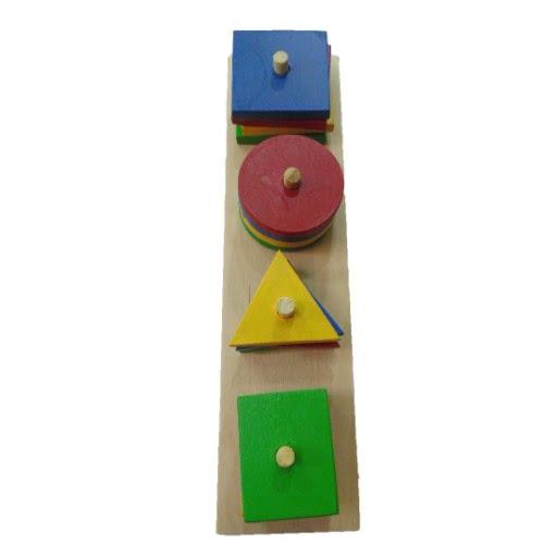 Extrokids Wooden Shape and Colour Sorter - EKW0029