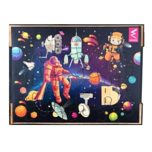 Extrokids Wooden Jigsaw puzzle -12*9 inch- Space theme - EKW0061A