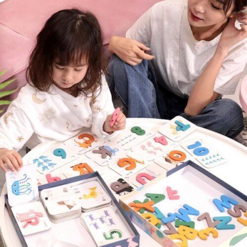 Extrokids Number Alphabet Letter Cards Pairing Education Kids Toy - EKT1850