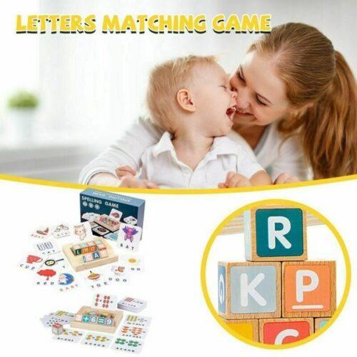 Extrokids Matching Spelling Letter Board Learning Educational Kids Toys - EKT1857