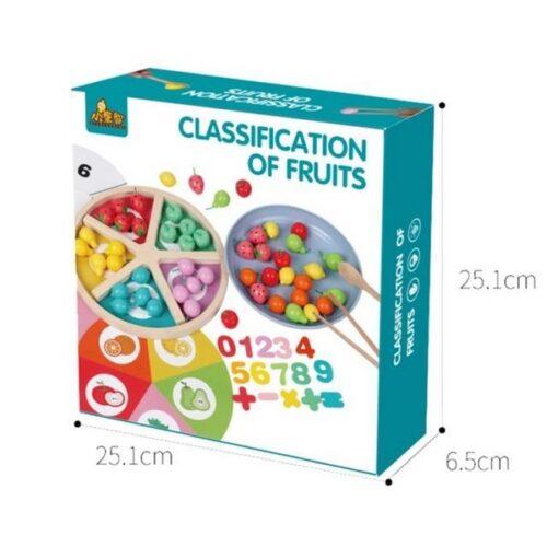 Extrokids Colorful fruit cognitive mathematics creative wooden puzzle toy - EKT1858