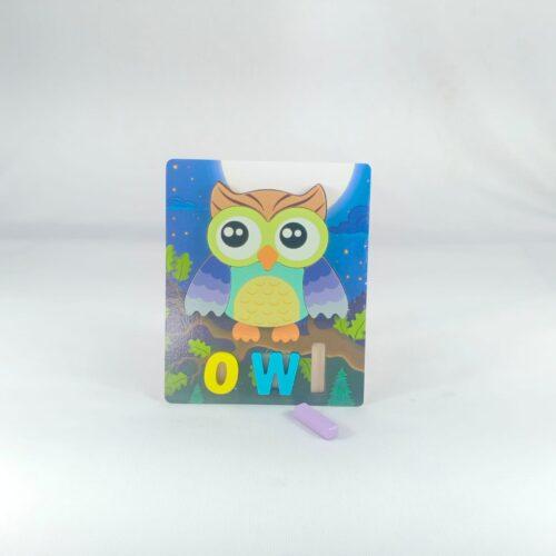 Extrokids 3d Wooden Puzzle Board - Owl - EKT1871