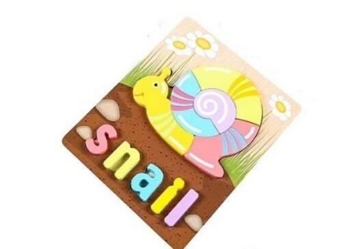 Extrokids 3d Wooden Puzzle Board - Snail - EKT1872