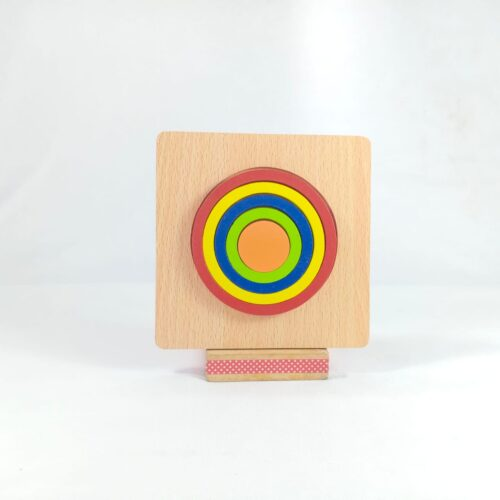 Extrokids DIY CREATIVE 3D WOODEN PUZZLE GEOMETRY SHAPE PUZZLE  EDUCATIONAL TOYS (CIRCLE) - EKT1874