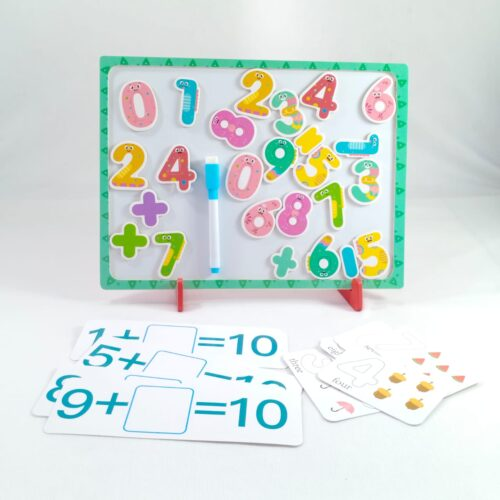 Extrokids Wooden with Magnetic Numbers Board Tray Toy - EKT1882