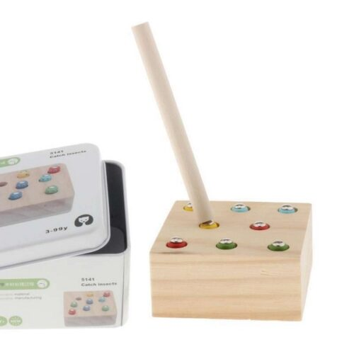 Extrokids Wooden Geometry Block Catch Insects Game Toy - EKT1896A