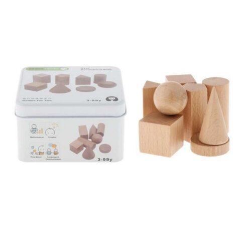 Extrokids Wooden Geometry Block Game Toy Geometrical body - EKT1896C