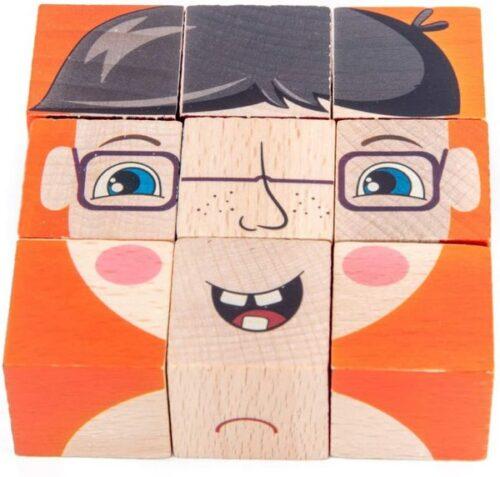 Extrokids Wooden Geometry Block Game Toy Block - EKT1896G
