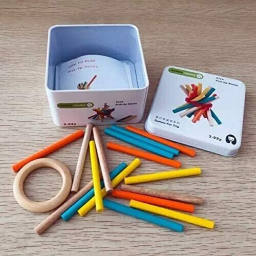 Extrokids Wooden Geometry Block Game Toy Pickup Sticks - EKT1896J
