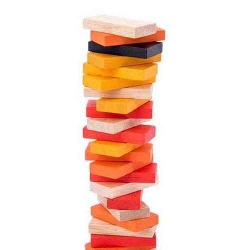 Extrokids Wooden Geometry Block Game Toy Domino Race - EKT1896K
