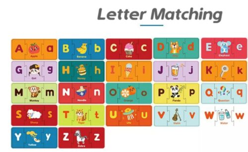 Extrokids Alphabet Letter Matching Jigsaw Puzzles Learning and Brain Teaser Educational Toy - EKT1897