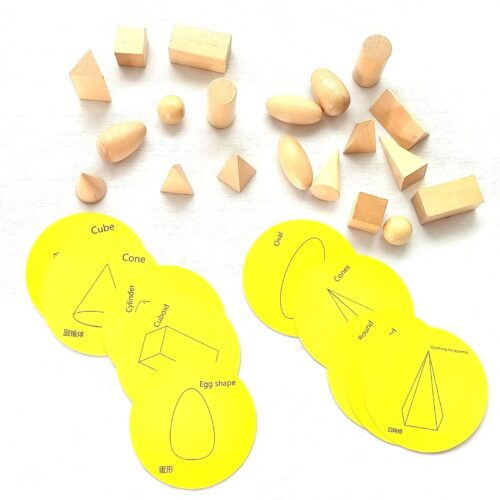 Extrokids Wooden Shapes Learning Resources Wood Geometric Solids - EKT1900