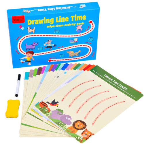 Extrokids Montessori Pre Schooler Writing & Drawing Training Activity Book Toy - EKT1903
