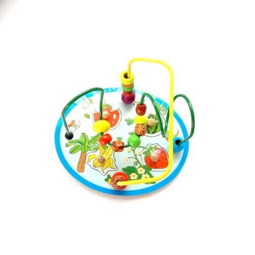Extrokids Wooden Around Beads Wire Maze Educational Toy - Fruits - EKT1904B