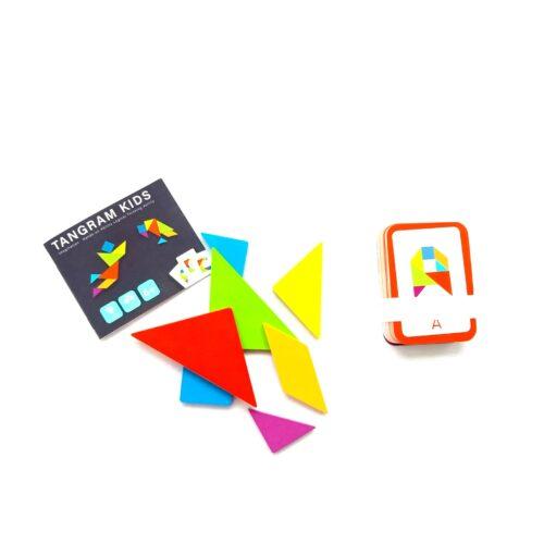 Extrokids Wooden Tangram Brain Teaser Educational Developmental Toy For Kids - EKT1906
