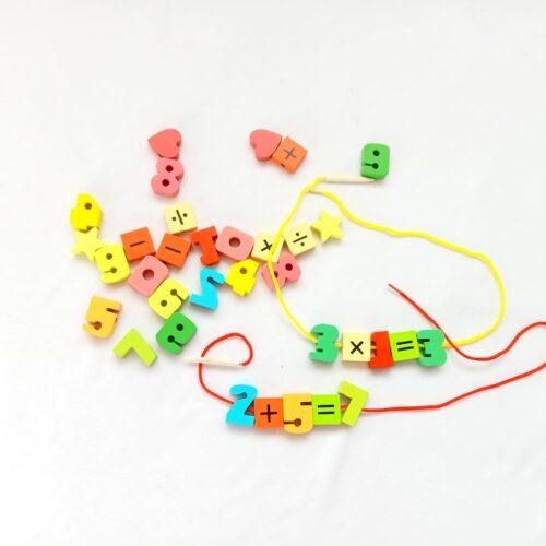 Extrokids Wooden Fruit Bead Lacing Toy Stringing Beading Game - EKT1914A